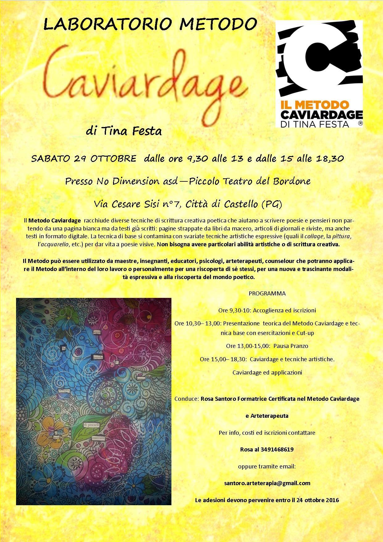 Laboratorio di Caviardage condotto da Rosa Santoro – 29 Ottobre  – Città di Castello