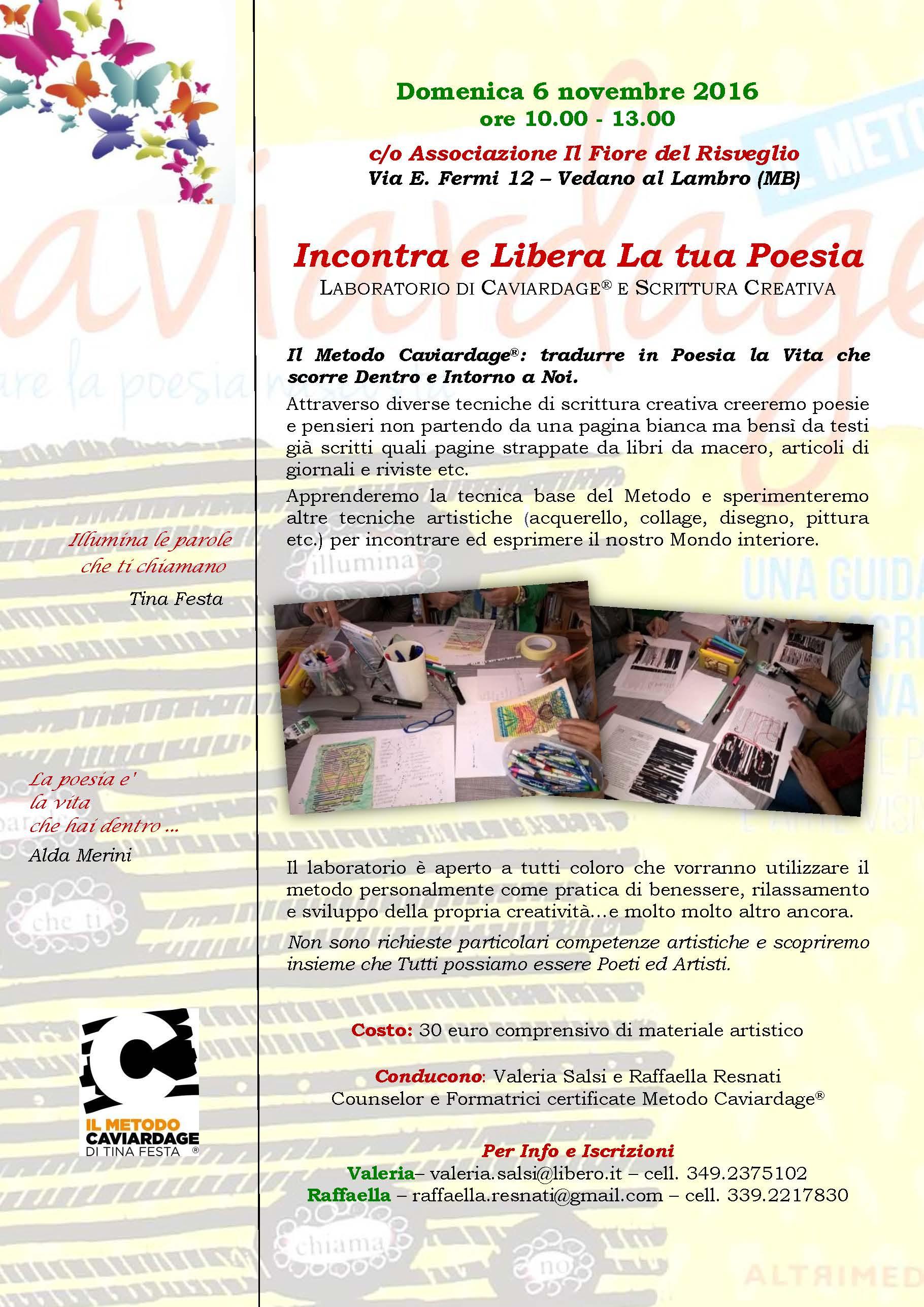 Laboratorio condotto da Valeria e Raffaella a Vedano al Lambro – 6 Novembre