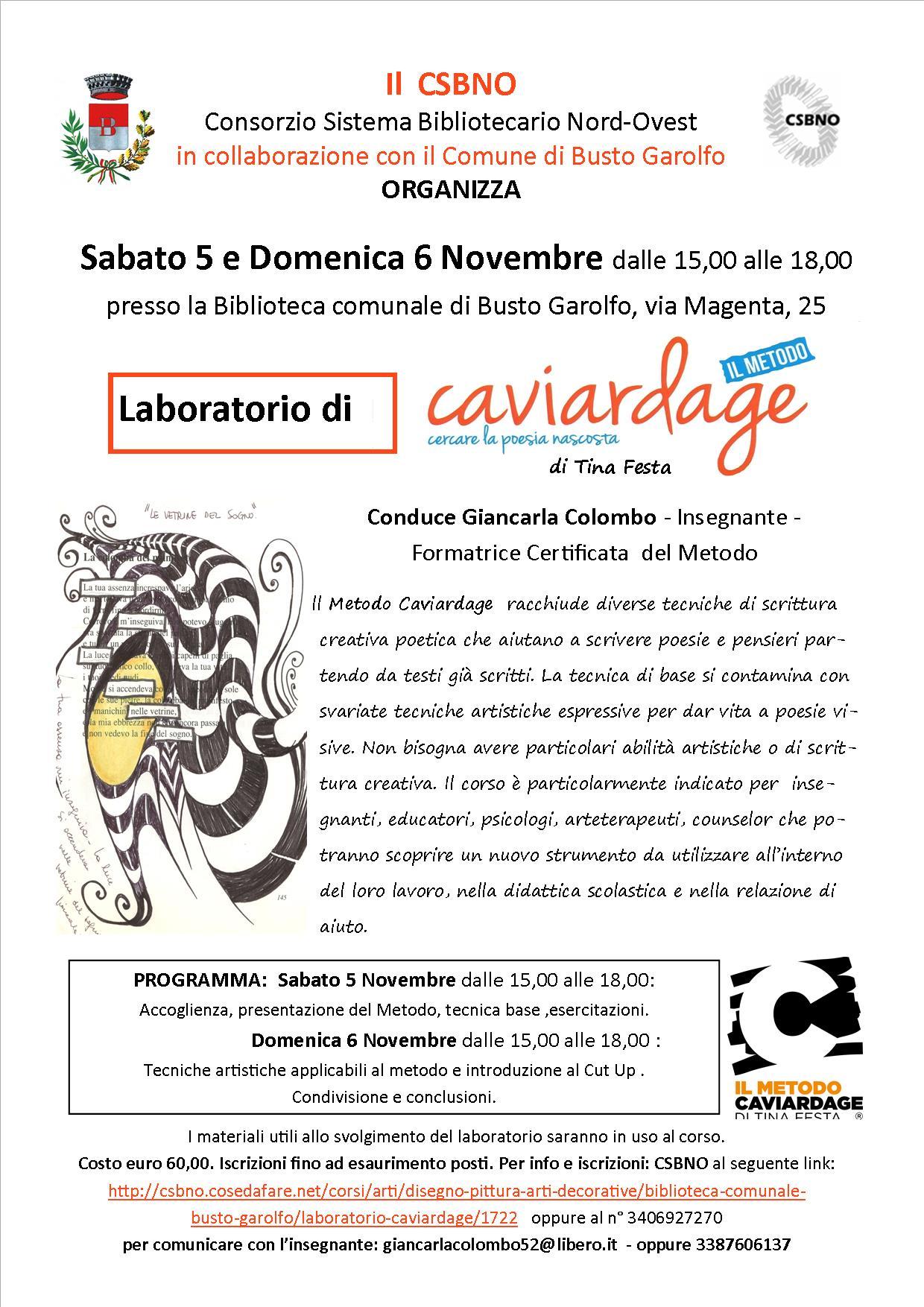 Laboratorio di Caviardage a Busto Garolfo (MI)- condotto da Giancarla Colombo
