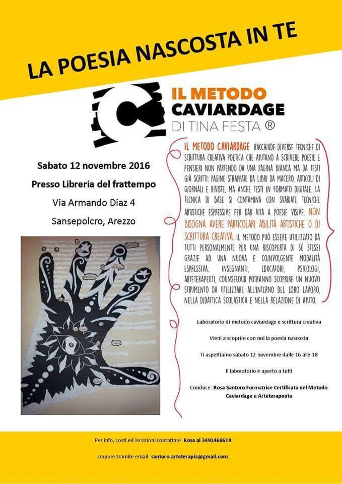 La poesia nascosta in te – Laboratorio di Metodo Caviardage e scrittura creativa condotto da Rosa Santoro