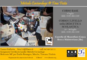 Corso Base e Corso di 1° Livello Metodo Caviardage® nella Didattica scolastica – Montefiore Conca (Rn)