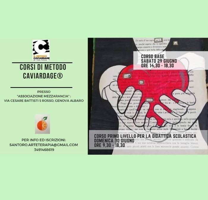 Genova-Corso Base e Corso1°Livello Scuola di Metodo Caviardage®