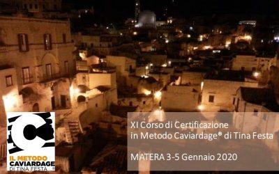XI Corso di Certificazione in Metodo Caviardage®- Matera Gennaio 2020