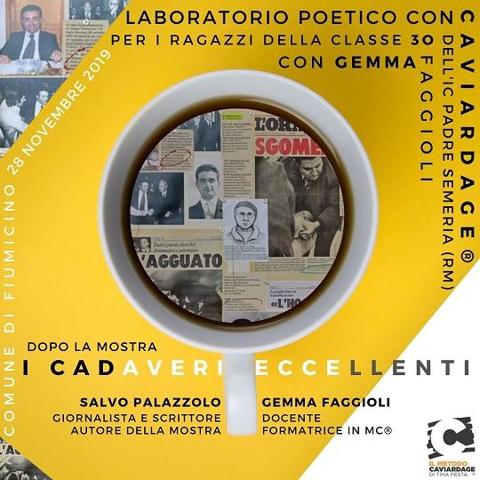 """Fiumicino – sala consiliare / Laboratorio / """"Cadaveri Eccellenti"""""""