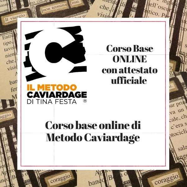 Corsi base online di Metodo Caviardage