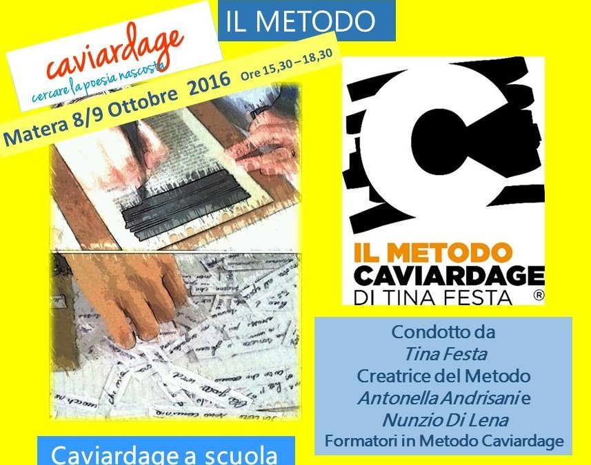 Corso a Matera: Il Caviardage nella pratica didattica:  8 e 9 Ottobre